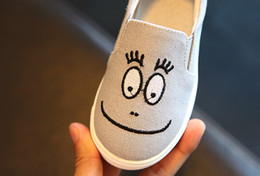 Wholesale Korean Cartoon Shoe - 2017 spring new children's shoes Korean children's cartoon cute blink canvas shoes men and girls casual shoes