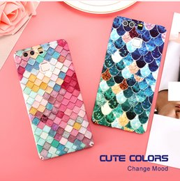 Wholesale 3d Huawei Phone Case - Fashion Phone Cases For XIAOMI mi5 Huawei P9 P9 Plus Colorful 3D Scales Squama Cover For iPhone 7 Plus 7 6 5s For S