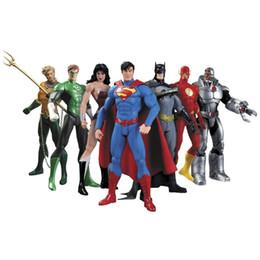 Wholesale Toys Ants - Hot NEW 7pcs set 17cm Justice League Super Hero Avengers Ant-Man Spider-man Superman Batman Action Figure toys doll sets Kids Gifts LA531