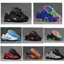 Wholesale Sneakers Low Sole - Many colors Air Vapor 2018 mens sports shoes Full Crusion Sole women outdoor running sneaker breathable tennis footwear size 40-47