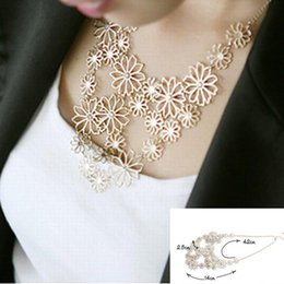 Wholesale Western Necklaces - Hot sale Brand Design western style Multilayer Pendants Rhinestone gold hollow flowers necklace jewelry statement