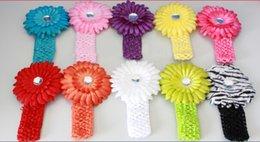 Wholesale Toddler Headbands Big Flowers - Fashion Infant Toddler Kid hair band Kids Headbands Big Flower Lacework Kids Hair Band Beautiful Kids Girl Hair Accessories Headwear A013