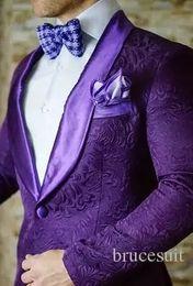 2017 Marca Rojo Mens Blazer Floral Diseños Para Hombre Paisley Blazer Slim Fit Traje Chaqueta de Los Hombres Esmoquin de Boda de Moda Trajes de Hombre (Jacket + Pant) desde fabricantes