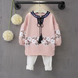 Wholesale Toddler Girl White T Shirt - 2pcs Toddler Kids Baby Girl T-shirt Dress+White Pants Clothing Outfit Set