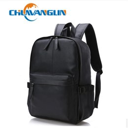 Wholesale Large Leather Laptop Backpacks - Wholesale- Chuwanglin Stylish Men Large Capacity Bag Travel Laptop Backpack PU leather College Tide Casual Men Backpacks School Bag ZDD91
