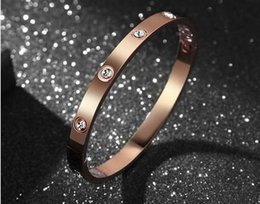Wholesale Screw Bangles Crystal - Details about 18KGold Rose Gold Silver Forever Love Screw Bangle for women set with crystal