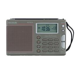 Wholesale High Band Radio - Wholesale-Original High Sensitivity Tecsun PL-757A FM   MW   SWRadio Full-band Digital Tune Stereo Clock Radio W Adapter Earphone Pouch