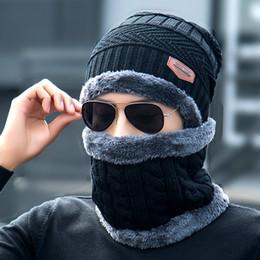 Wholesale Tie Dyed Scarves - Winter Unisex Knitted Hats Fashion Beanies Cashmere Wool Scarf Hats Women Men Ski Skull Caps Bonnet Gorro Warm Baggy Bouncy