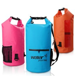 Wholesale Net Floats - Hot Sale Upgrade Outdoor Waterproof Dry Bag With Zipper Net Pocket Floating Swimming Boating Camping Travel Kit Drifting storage Bag 10L 20L