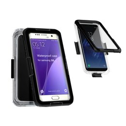 Wholesale Plastic Waterproof Cases - For Galaxy s8 360 Full Cover Waterproof Case Shockproof Hybrid Heavy Duty Phone Cases For Samsung S8 s8 plus