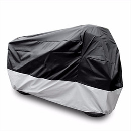 Wholesale Motorcycle Rain Covers - All Size Motorcycle Cover Waterproof Outdoor Uv Protector Bike Rain Dustproof Motorbike Motor Scooter M L XL XXL 3XL 4XL A2123