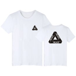 Wholesale Solid Color Mens Tees - palace skateboards classic triangle print mens t shirt for men basic summer noah clothing cotton short sleeve tees tops plus size S-2XL