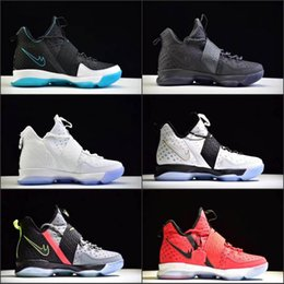 Wholesale Winter High Cut Running Shoes - 2017 LB 14 James XIV 14s Mens High Cut Basketball Shoes For Men SBR Christmas Rio Glow Coast Elite Athletic Sports Sneakers 40-46