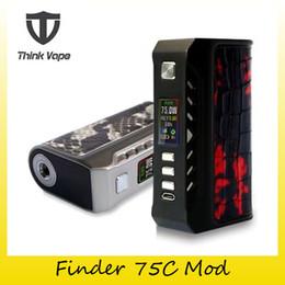 Wholesale Dna Wholesale - Authentic Think vape Finder 75C Box Mod Evolve DNA 75C Chip Dual 18650 Battery ThinkVape 75W Mod 100% Original 2256005