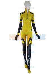 Wholesale Male Zentai - D.VA B.VA Costume 3D Print dva bva SKIN Zentai Bodysuit Female Women Girls Lady Catsuit Custom Halloween Cosplay Spandex Suit