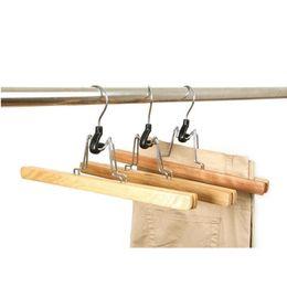 Wholesale Slip Free Hangers - Natural Wooden Collection Slack Hanger Wood Skirt Trouser Hangers Pants Hair Extensions Hanger Non-slip Free Shipping ZA4866