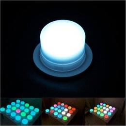 Wholesale White Battery Lights - New LED Furniture Lighting Battery Rechargeable Led Bulb RGB Remote Control Waterproof IP68 Swimming Pool Lights