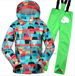 Wholesale Red Band Jacket - Gsou Snow Band Girl Ski Suit Children Ski Jacket+Pant Warm Clothing Snowboard Kid Thicken Windproof Waterproof Suit Set 2016 New