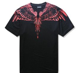 Wholesale L S Magazine - Marcelo Burlon T-Shirt Men Milan MB Feather Wings T Shirt Men Women Couple Fashion Show RODEO MAGAZINE T Shirts Goros camisetas