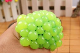 Wholesale Stretchy Balls - 6CM Anti Stress Reliever Grape Ball Squishy Phone Straps Autism Mood Squeeze Stretchy Funny Tricky Charms Toy Xmas Gift