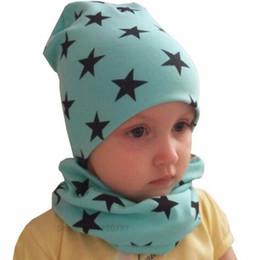 Wholesale Only Beanies - only$8 2packs Autumn winter Crochet Baby Hat Girl Boy Cap Kids Beanie Stars Infant Hat Cotton New Children Collar Scarf baby cap child cap
