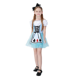 Nouvelle Alice au Pays des Merveilles Robe Stage Wear Vêtements Enfants Party Fantaisie Ball Vêtements Fille Alice cosplay Costume en gros PS042 ? partir de fabricateur