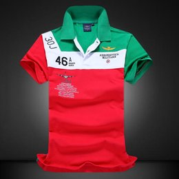 Wholesale Pure Races - Factory Directly Sale 2017 New Air Force One Men's Lapel Short Sleeve Polo Shirt 100% Pure Cotton Embroidery Solid Racing Sport Shirt
