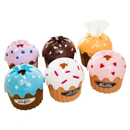 Wholesale Ice Box Cake - Wholesale- Lovly Cake Ice Cream Type Car Home Towel Tissue Paper Box Holder