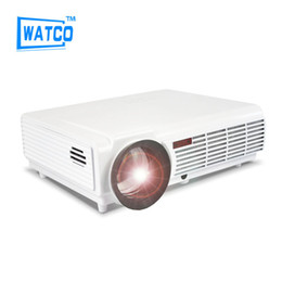 Wholesale Video Meetings - Wholesale-2016 LED96 Wifi Android projector WiFi Smart LED 96 Proyector 5500lms 1080P video Home theater 3D Full HD LCD Beamer for meeting