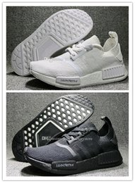 Wholesale R1 11 - NMD R1 Japan Pack in Triple Black and Triple White Primeknit Running Shoes for men sneakers Women Men NMDS boost On Sale Eur 36-45 US 5-11