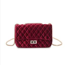 Wholesale Wholesale Small Velvet Bags - Wholesale- 2017 Women's Velvet Handbag Messenger Bag lady Contracted Cross body Shoulder Bags Small Mini Casual Satchel Purses
