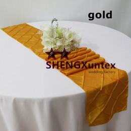 Utilizza il panno da tavola online-Corridore della tabella del taffettà del pintuck usato sulla tovaglia che spedice liberamente