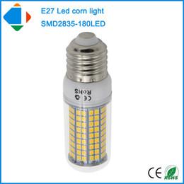 Wholesale Indoor Lights China - 4x led lamp china 110v 18 watt e27 corn lamp smd 2835 chip 180leds 18w bulbs light 220v 240v indoor lamps
