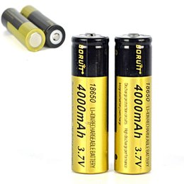 Wholesale Boruit Flashlight - New High Capacity Boruit 18650 battery 4000mAh 3.7V Rechargeable li-ion Battery for LED Flashlight Headlamp DHL Free Shipping