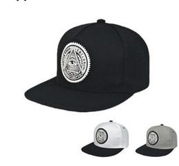 Wholesale Eyes Hat - 2017 Fashion Round Label Triangle Eye Illuminati Snapback Caps Women Adjustable Baseball Cap Snapbacks Hip Hop Hats