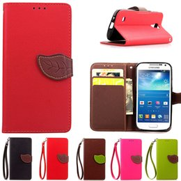 Wholesale I9195 Cell - S4 Mini Fashion Flip Case for Samsung Galaxy S4 Mini i9190 i9192 i9195 Cell Cover Wallet Stand With Card Holder Phone Cases