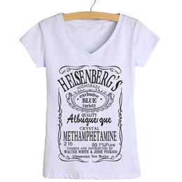 Wholesale Wholesale V Neck Tshirts Women - Wholesale-Fashion Tee Shirts Breaking Bad Heisenberg Women T Shirt Twenty One Pilots Tops Skull Retro T-shirt Putin Tshirts Woman