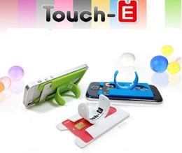Одноразовый кошелек онлайн-3 м Наклейка Touch One U Силиконовый Кошелек Вернуться Держатель Кредитной Карты Стенд Держатель Телефона Для iphone Samsung