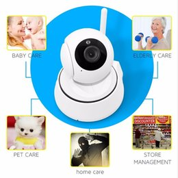 Wholesale Battery Cctv - 720P HD Wireless WIFI Control Monitor Security CCTV IP Rotating Camera Remote Control Home Camera Baby Monitor for IOS Andriod Tablet PC