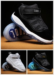 Wholesale Baby Brown Shoes - Kids 11 XI Space Jam Shoes Little Baby Boys Girls Toddlers 11s Gamma Concord Bred Pre-Walkers Sneaker 6C-10C