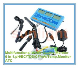 Wholesale Ph Cf - Wholesale- Multi-functional Water Quality Monitor 6 in 1 pH EC TDS CF mV Temperature with ATC function