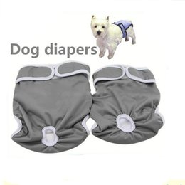 Wholesale Pet Sanitary Pants - Pet Dog Diapers Durable Dog Nappy Changing Comfy Pants Couches Lavables Stylish Sanitary Dog Pants for S M L