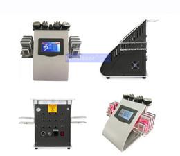 Wholesale Lipo Slim Machines - New Promotion 6 In 1 Ultrasonic Cavitation Vacuum Radio Frequency Lipo Laser Slimming Machine for Spa