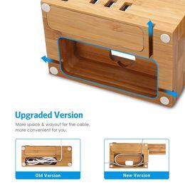 2019 suporte de telefone de madeira Para a apple assista iwatch iphone estação de carregamento de bambu suporte usb carregador da doca balde titular do telefone de madeira para iphone 7 6 plus 5S