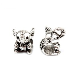 Wholesale Glass Owl Beads - Lovely Owl Elephant Apple Love Beads Fit Original Bracelet Necklace Big Hole European DIY Jewelry Charm Loose Beads