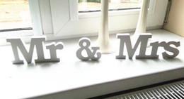 Wholesale wedding sign supplies - New 3 pcs set Wedding Decorations Mr & Mrs Mariage Decor Birthday Party Decorations White Letters Wedding Sign