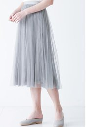 Wholesale Girls Tutu S Cheap - Cheap light gray Tutu Skirt For Girls Or Women simple style Tulle Skirt Weddings And Formal Wear