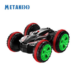Wholesale Electric Rc Car Brushless - Stock in USA!! Metakoo RC Car Off Road Amphibious Hobby Car 360° Flip Spinning Double Sided Driving Stunt Car
