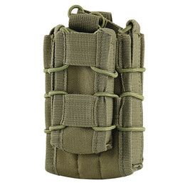 Wholesale Pistol Clips - MOLLE Tactical Open Top Double Decker Single Mag Pouch Cartridge Clip Pouch Bag for Rifle Pistol out door sport Hunting