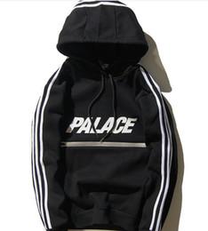 Wholesale 3m Knitting - 2017 European tide brand new palace autumn Wu Yifan 3M reflective zipper stripe couple hooded hoodies
